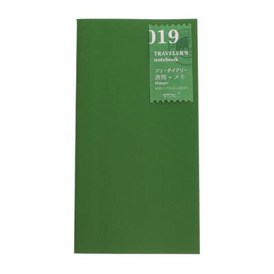 TRAVELER'S notebook 019 Free Diary - Weekly