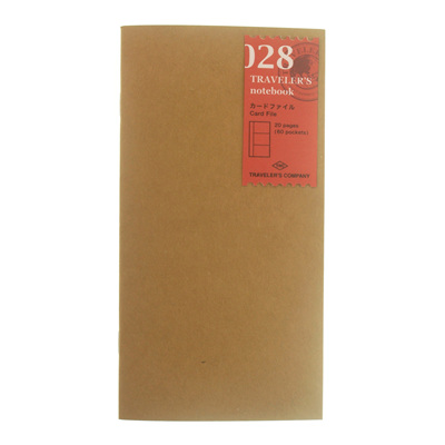TRAVELER'S notebook 028 Card File