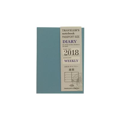 Traveler's notebook 2018 passport size  weekly diary