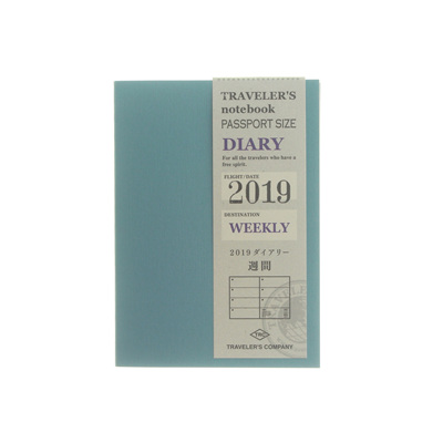 Traveler's notebook 2019 weekly diary - passport size