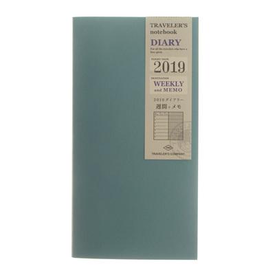 Traveler's notebook 2019 weekly diary plus memo