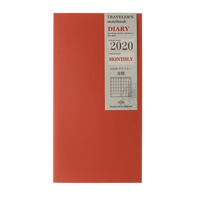 TRAVELER'S notebook 2020 monthly diary