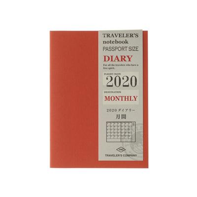 TRAVELER'S notebook 2020 monthly diary - passport size