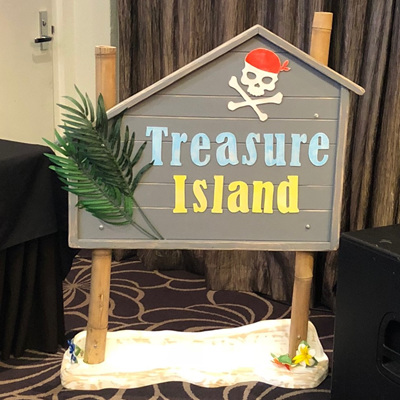 Treasure Island Pirate Sign
