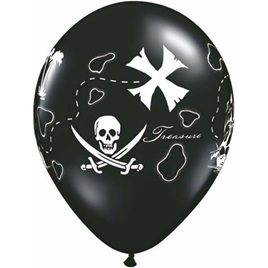 Treasure map latex balloon x 1
