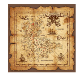 Pirate Map Back Drop