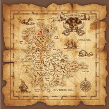 Pirate Map Back Drop