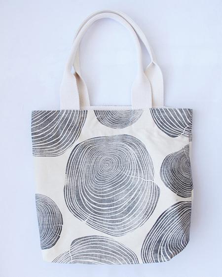 Tree Rings Tote Bag with Webbing Handle