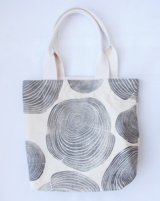Tree Rings Tote Bag with Webbing Handle