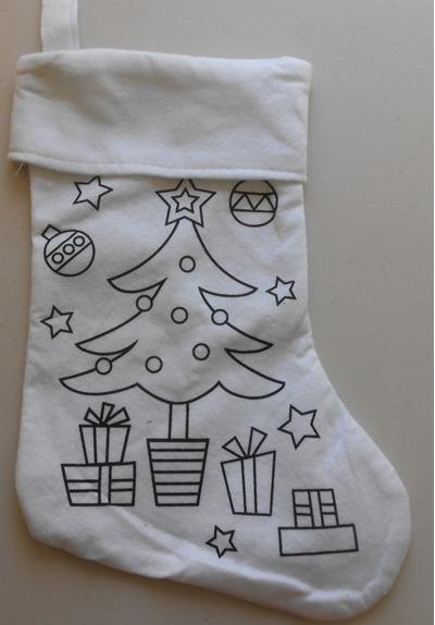 Tree Xmas Stocking and 4 Fabrico Pens