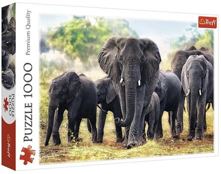 Trefl 1000 Piece Jigsaw Puzzle: African Elephants