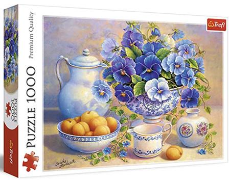 Trefl 1000 Piece Jigsaw Puzzle: Blue Bouquet