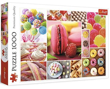 Trefl 1000 Piece Jigsaw Puzzle: Candy Collage