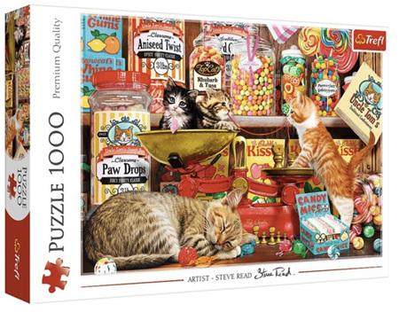 Trefl 1000 Piece Jigsaw Puzzle: Cat Sweets