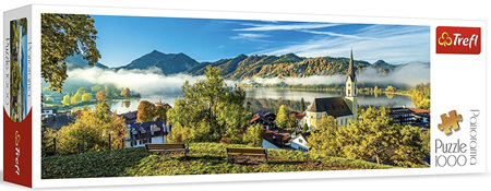 Trefl 1000 Piece  Panorama Jigsaw Puzzle: By The Schliersee Lake