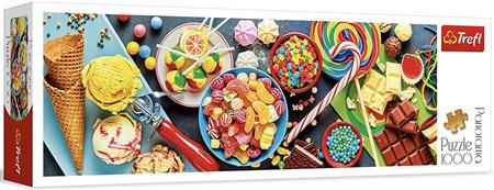 Trefl 1000 Piece Panorama Jigsaw Puzzle: Sweet Delights
