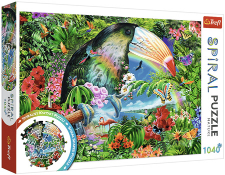 Trefl 1040 Piece  Spiral Jigsaw Puzzle: Tropical Animals