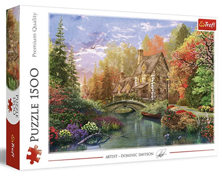 Trefl 1500 Piece Jigsaw Puzzle: Cottage By The Lake