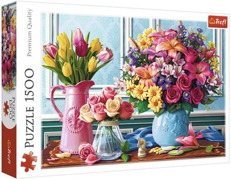 Trefl 1500 Piece Jigsaw Puzzle: Flowers In Vases