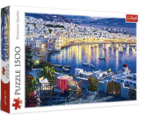 Trefl 1500 Piece Jigsaw Puzzle: Mykonos At Sunset