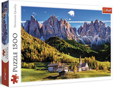 Trefl 1500 Piece Jigsaw Puzzle: Val di Funes Dolomites Italy