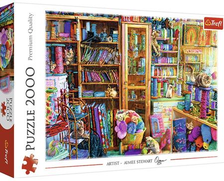Trefl 2000 Piece Jigsaw Puzzle: Kitty Paradise