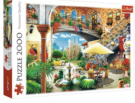Trefl 2000 Piece Jigsaw Puzzle: Vista Of Barcelona