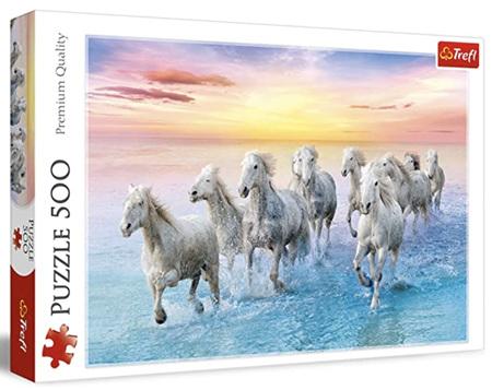 Trefl 500 Piece Jigsaw Puzzle: Galloping White Horses