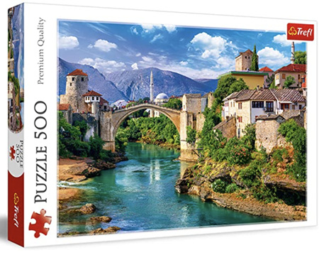 Trefl 500 Piece Jigsaw Puzzle: Old Bridge In Mostar Bosnia