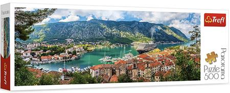 Trefl 500 Piece Panorama Jigsaw Puzzle: Kotor Montenegro