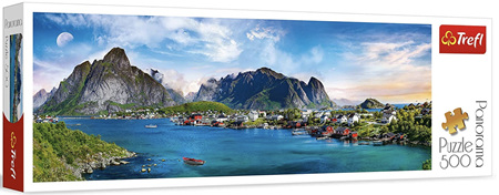 Trefl 500 Piece  Panorama Jigsaw Puzzle: Lofoten Norway