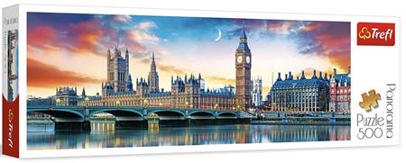 Trefl 500 Piece Panorama Puzzle:  Big Ben & Palace Of  Westminster