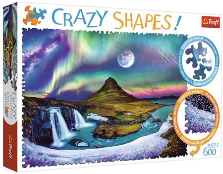 Trefl 600 Piece 'Crazy Shapes' Jigsaw Puzzle: Aurora Over Iceland