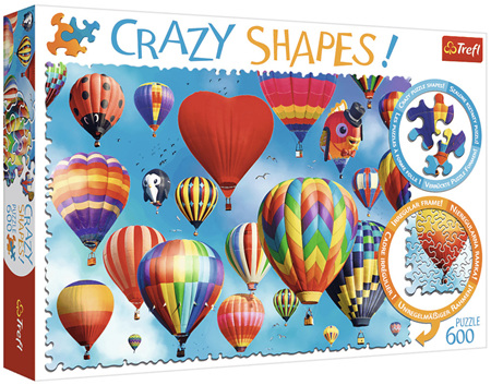 Trefl 600 Piece 'Crazy Shapes' Jigsaw Puzzle: Colourful Balloons