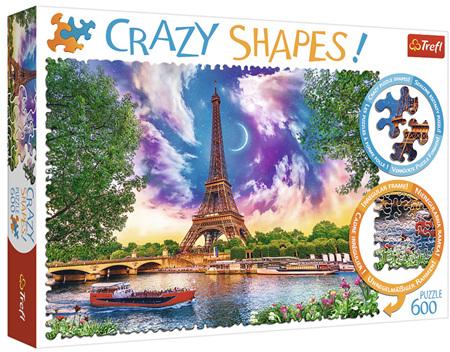 Trefl 600 Piece 'Crazy Shapes' Jigsaw Puzzle: Sky Over Paris