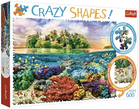 Trefl 600 Piece 'Crazy Shapes' Jigsaw Puzzle: Tropical Island
