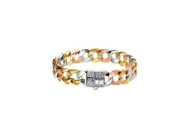 Tri-Colour Gold Luxury Dog Collar by Big Dog Chains
