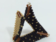 Tri-Wing Ring - Black & Brown & Gold