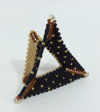 Tri-Wing Ring - Black & Brown & Gold