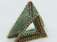 Tri-Wing Ring - Green & Brown & Gold