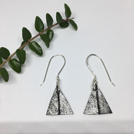 Triangle Earrings with Silver