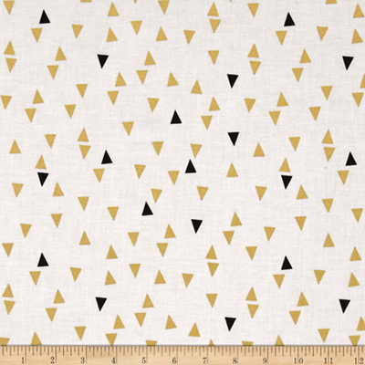 Triangles gold metallic