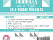 Triangles on a Roll Triangle Paper Selected Sizes