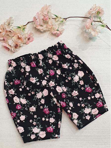 Trinity Pants - Black Pink Glitter Floral