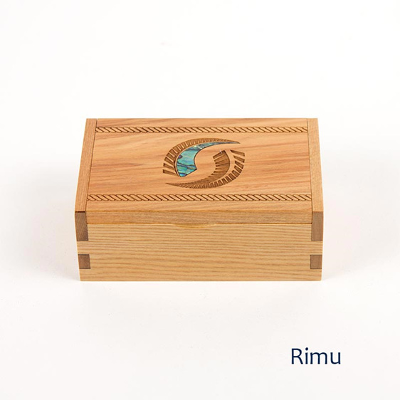 trinket box with fern - rimu