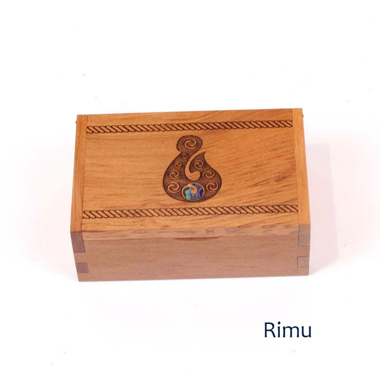 trinket box with koru - rimu