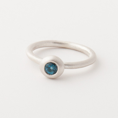 Trinket Ring in Blue Topaz