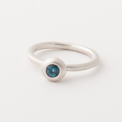 Trinket Ring in Blue Topaz