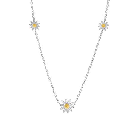 Triple Daisy Necklace