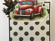 Triple Easel Card - Red Truck